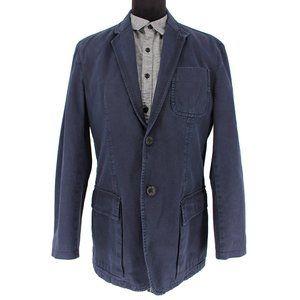 Prada Navy Blue Denim Sport Coat Jacket size 52 L